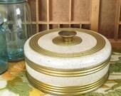 Guildcraft Gold & Cream Vintage Tin with Knob