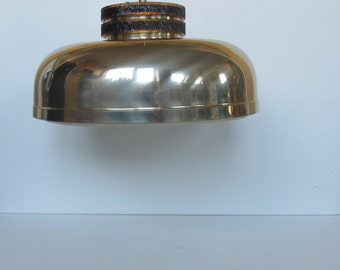 Big Brass pendant light, typical mid century hanging lamp