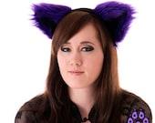 Pawstar Furry Kitty Cat Ears Costume Purple Color Theme FLUFFY MEW Ear HEADBAND 3051