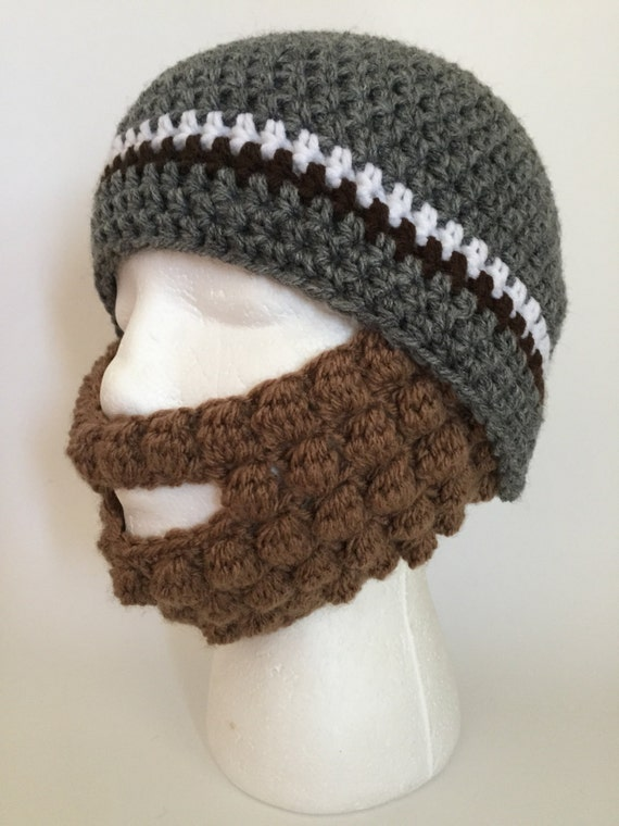 Crochet Pattern For Mens Beanie With Beard : Crochet Beanie with Beard Pattern