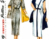Simplicity 8380  Retro 1950's Sewing Pattern Slim  Dress with Stole, Great Detail and Style. Bust 38