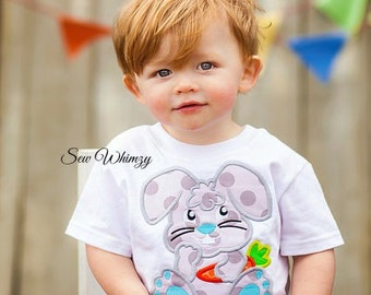 Easter shirt or bodysuit- Easter bunny shirt or bodysuit-Boy Bunny shirt