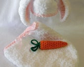 Bunny Hat or Bunny Hat - Cocoon - Carrot - Set
