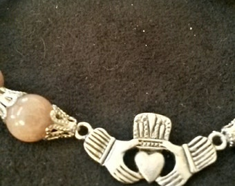 Sandstone Stretch Celtic, Cladaugh, St. Patrick's Day Bracelet