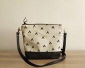 Geometry Crossbody bag, Small handbag, Canavas purse, Geometric Print, Day bag,