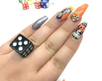 Colorful Dice Rings