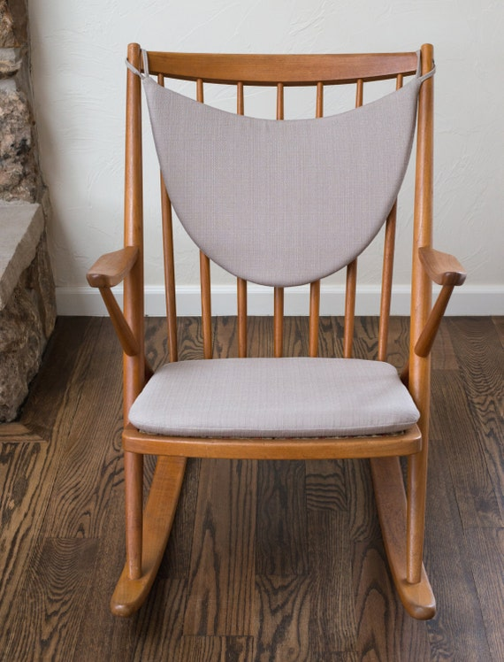 ... Reenskaug Rocking Chair - Upholstery Fabric - Many Colors Available