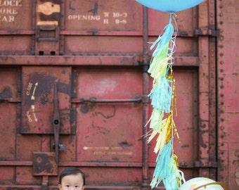 """36"""" Giant Balloon With Balloon Tassels"""
