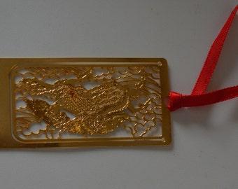 Gold plated bookmark, Kirin beer
