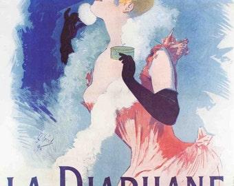 Cheret- La Diaphane: 1976 Reproduction.