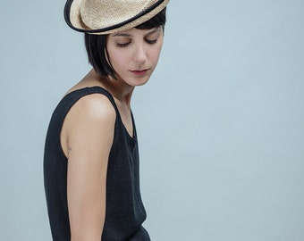 Straw Hat For Women , Straw Fascinator , Straw hat for occasion , Nora