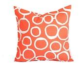 Orange pillow cover One cushion cover orange pillows orange throw pillow Freehand Tangelo orange