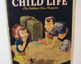 vintage, rare Child Life magazine June 1939