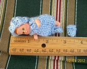 "Doll Clothes  set handknitted fit baby Krissy 2"" - 3 inches"