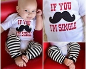Baby Boy Clothes Mustache I'm Single Bodysuit Gown Leg Warmer Personalized Hat Options For Your Little Man Baby Boy Clothing Clothes Outfit