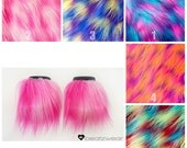 MADE TO ORDER  wrist cuffs accessories rave festival raver gogo faux fur rave fluffies