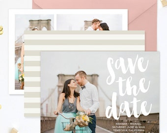 Save the Date Template for Photographers, Save the Date Card Announcement, Engagement Photography Templates, Photoshop Templates - SD139