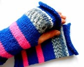 Rustic Neon Nordic Fairisle Fingerless Gloves