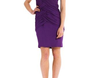 1980s Strapless Silk Jersey Dress  Size: XS/S