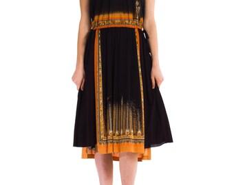 1970s Vintage Ikat Anita Dress  Size: S/M