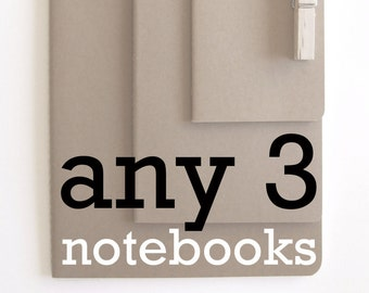 Any 3 MOLESKINE® Notebooks:  Chose any 3 notebooks;  Set of 3 Notebooks; Notebook Promotion; Special Price Notebooks;