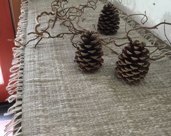 organic natural dyed handwoven table runner #1