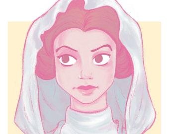 The Ambassador // Princess Illustration // Art Print // Geeky Home Decor