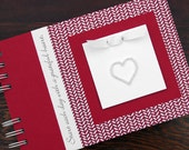 Thankful Journal | Gratitude Journal | Daily Blessings Book | Start Each Day with a Grateful Heart | Red Herringbone