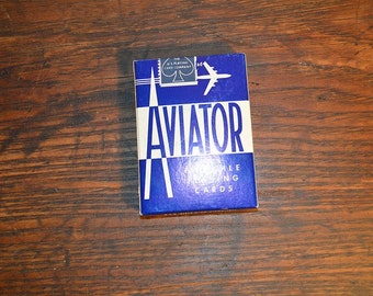 Vintage Aviator Pinochle playing cards unopened box NIB new old stock deck of cards