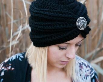 Crocheted Turban hat, Vintage Style Turban, Womens Hats,Womens Fashion, Women's accessories,