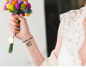 Felt Wedding Bouquet, Craspedia Flowers, Silk Flower Felted Balls, Bride