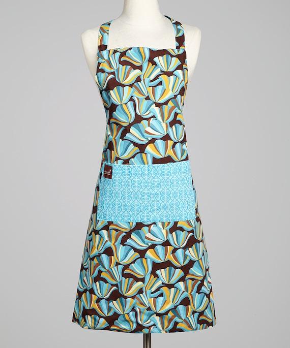 Women's Apron - Floral Print Apron - Organic Cotton Smock - Ladies Apron - Matching Apron - Flattering Fit Apron