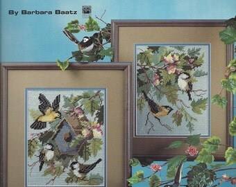 Spring Visitors In Plastic Canvas - Leisure Arts #1448 - Plastic Canvas Pattern, Birds, Picture