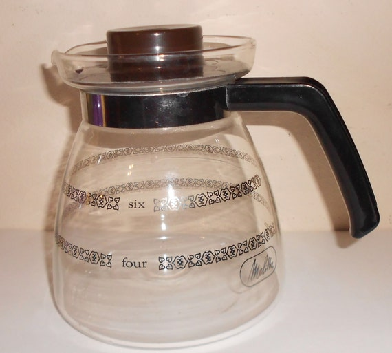 Coffee Maker Carafe That Doesnot Drip : Vintage Drip Coffee Pot Carafe Melitta glass by TearDropCurio