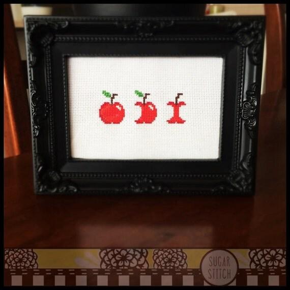Apple Bites Cross Stitch Printable Pdf Pattern