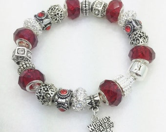 World's Greatest Mom Charm Bracelet
