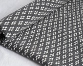 Cot knitted Blanket/ Grey & Cream Blanket/ Fair Isle knit/ Bedding/ Boy Blanket/ Girl Blanket/ Baby Knit Blanket/ Handmade/ Wool Blanket/