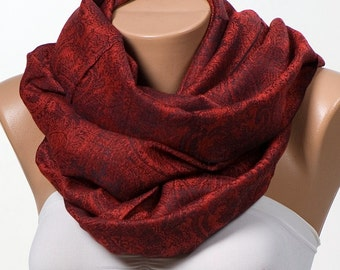 RED Paisley Scarf or Shawl or Neck Wrap. Mothers Days Scarf. Spring scarf wrap. New Season.
