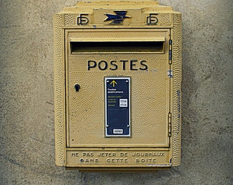Provence, France, Postes Mailbox Photo. Photograph. French Decor Photography. Cottage Chic. Shabby Chic. Home Decor. Wall Art. Kitchen Art.