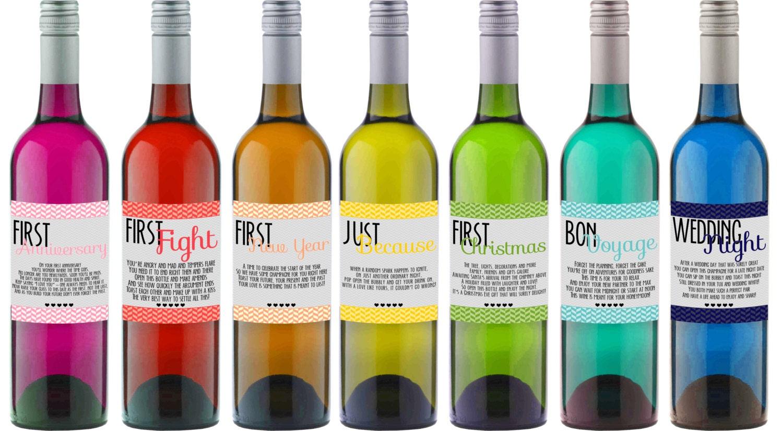 Diy Wine Bottle Labels Instant Download Wedding Firsts Wine Bottle