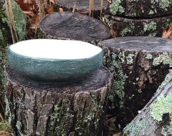 Bowl, Stoneware Ceramic Pottery, stucco texture, organic form