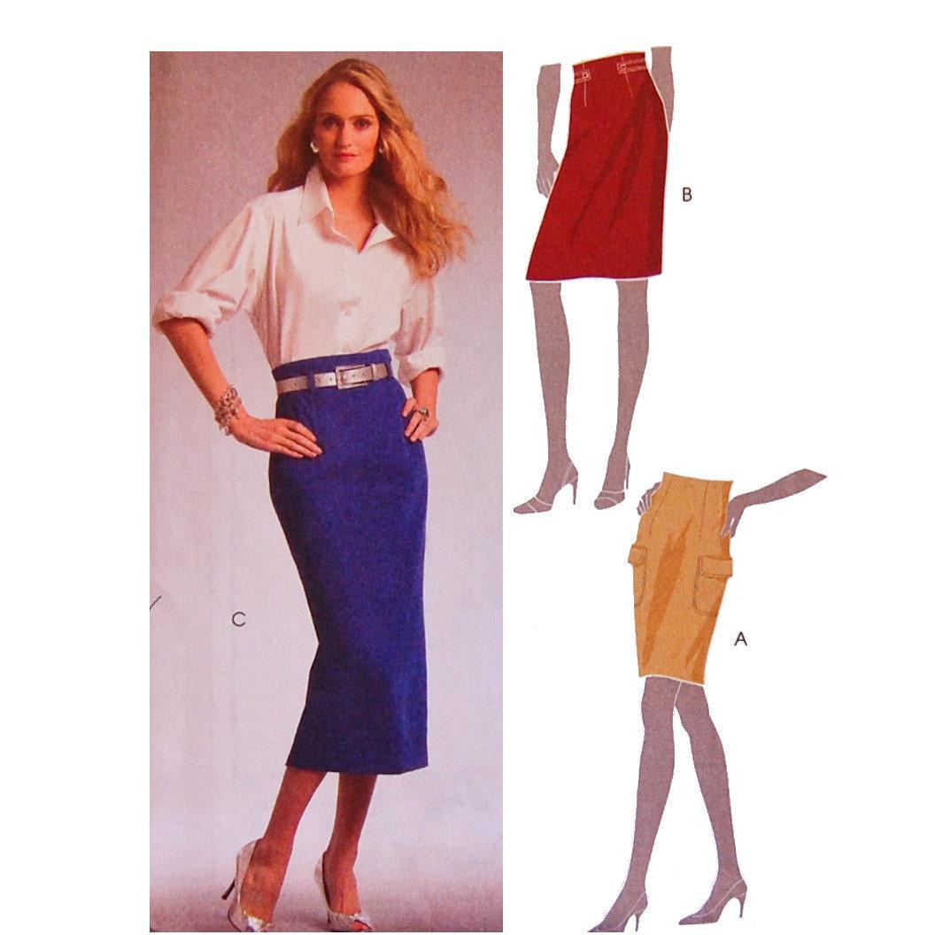 womans high waist pencil skirt sewing pattern mccalls m5590