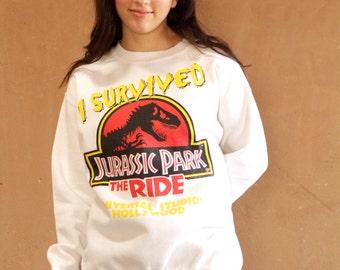 vintage 90s JURASSIC PARK sweatshirt