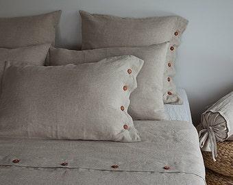 FULL linen bedding - Double linen bedding - full natural bedding - double natural bedding - NATURAL linen bedding - NATURAL linen bedding
