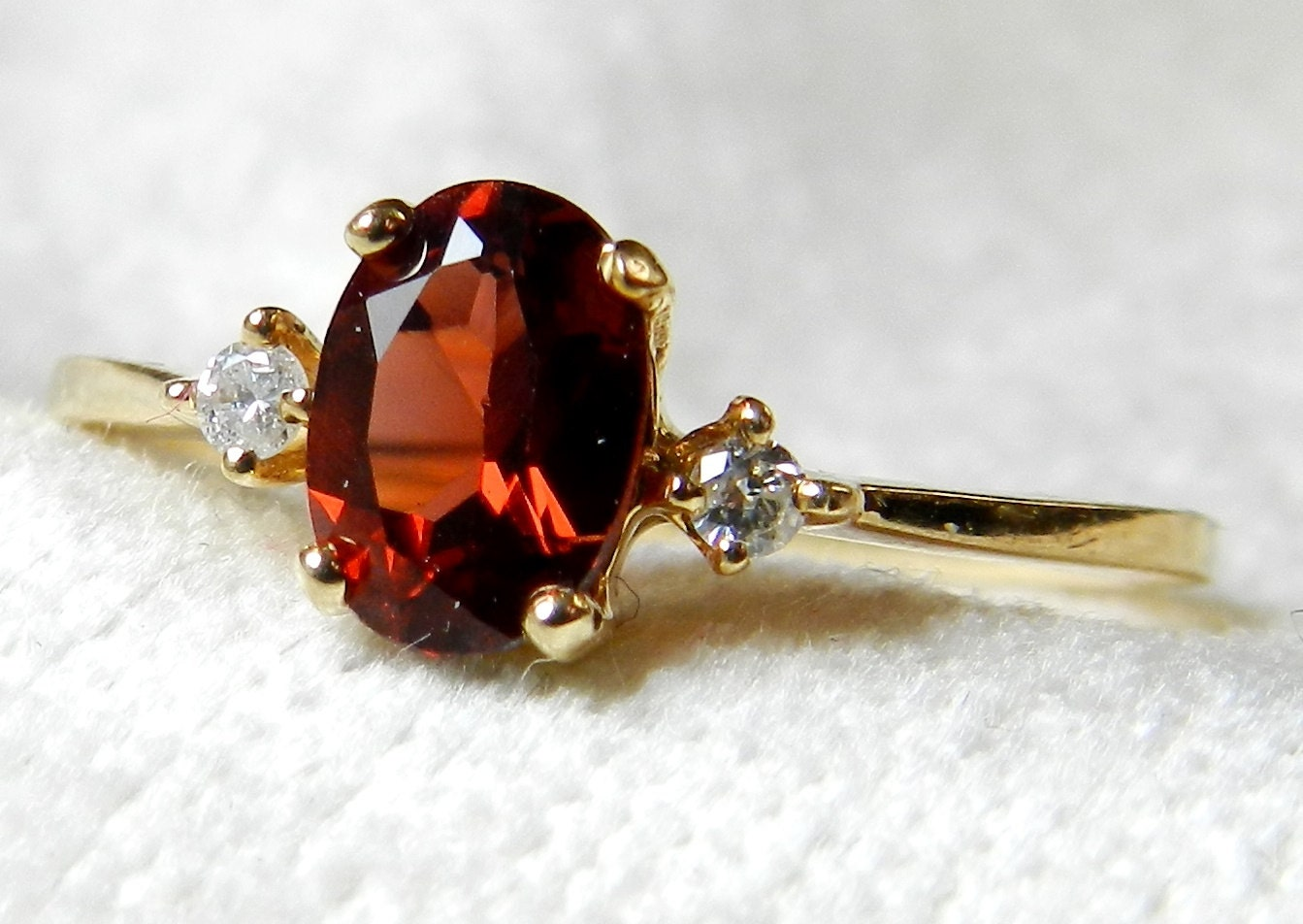 vintage garnet engagement ring antique 1 by lovealwaysgalicia