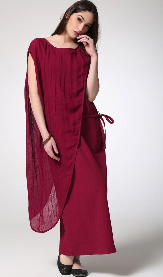 items similar to red linen dress maxi dress women dress