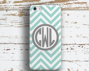Preppy Iphone 6+ case, Chevron Iphone 5c case, Cute iPhone 5 case, Girls iPhone 4 case, Womens fashion accessory Light blue gray white 9846