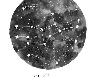 Virgo Constellation Illustration - Vertical