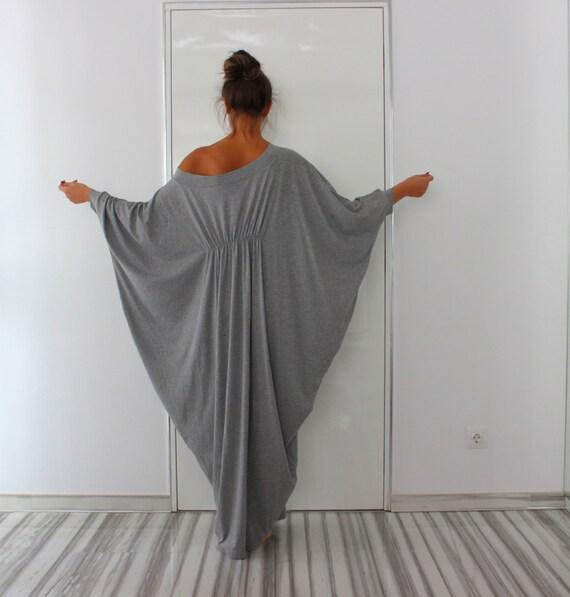 Grey plus size maxi dress