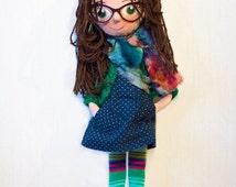 Customizable Personalized portrait cloth doll, ragdoll